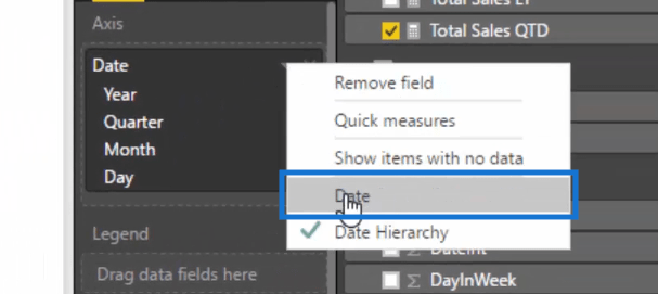 selecting date