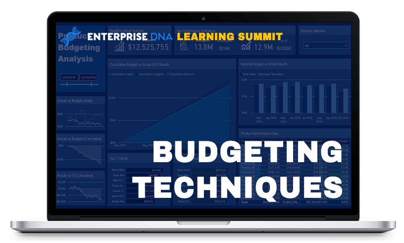 Enterprise DNA Learning Summit Budgeting Techniques Dashboard