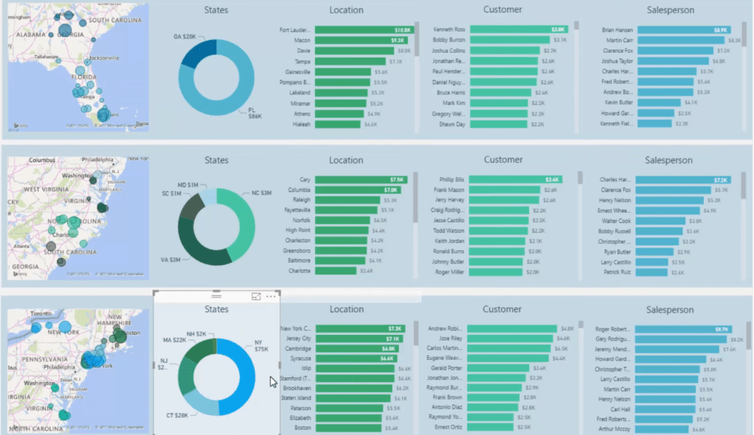 managing visual interaction in power bi