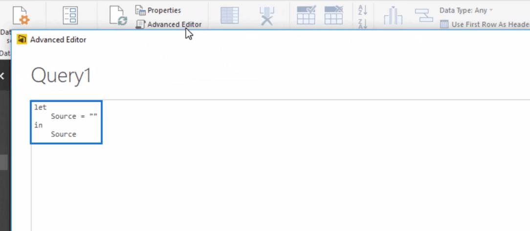 advanced editor window