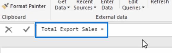 total export sales measure