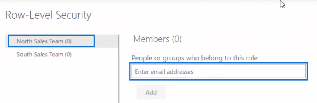 box where to enter email addresses