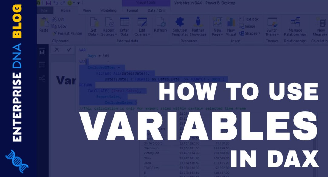 How To Use Variables In DAX Power BI