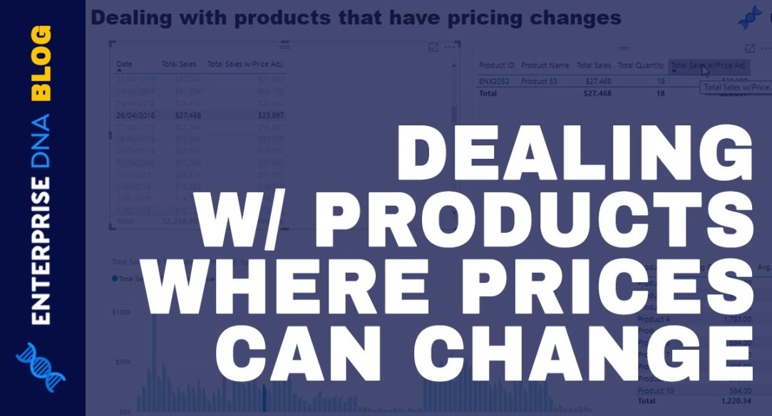 DEALING W/ PRODUCTS WHERE PRICES CAN CHANGE