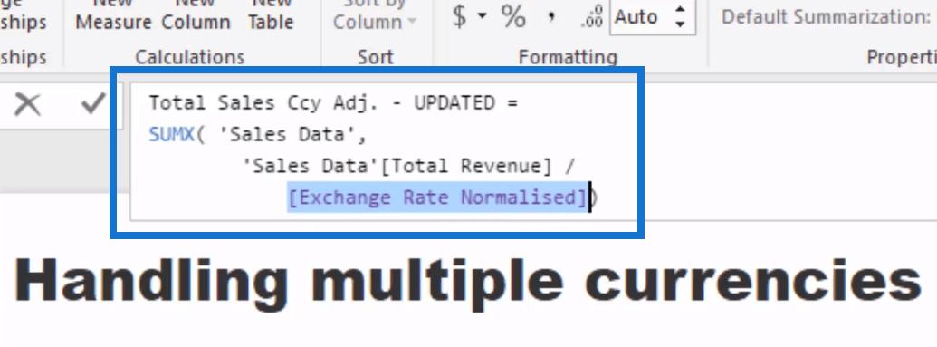 power bi exchange rates