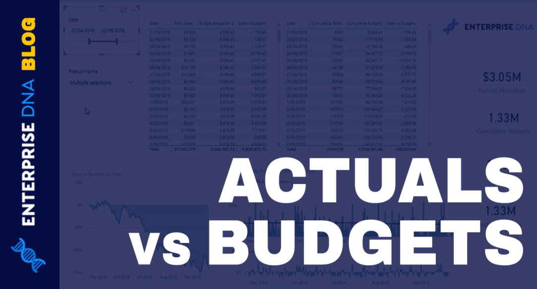 Actuals vs Budgets - Comparison Insights w/Power BI