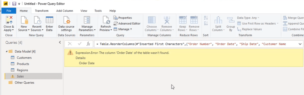 power bi m language