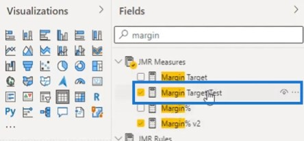 Margin Target Test measure