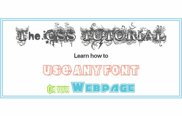 CSS Custom Fonts Tutorial