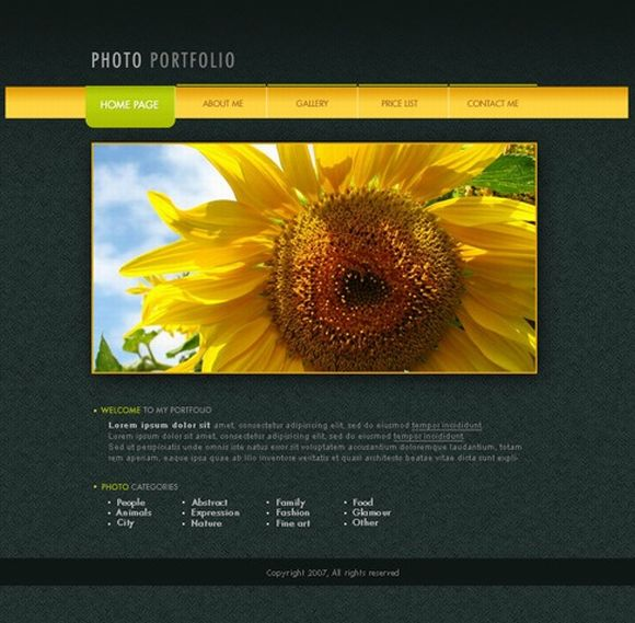 Designing a Photo Portfolio Web Page Layout