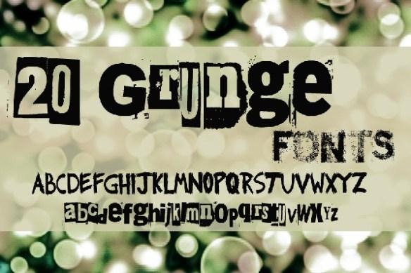 20 Grunge fonts