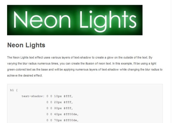 Cool Text Effects Using CSS3 Text-Shadow