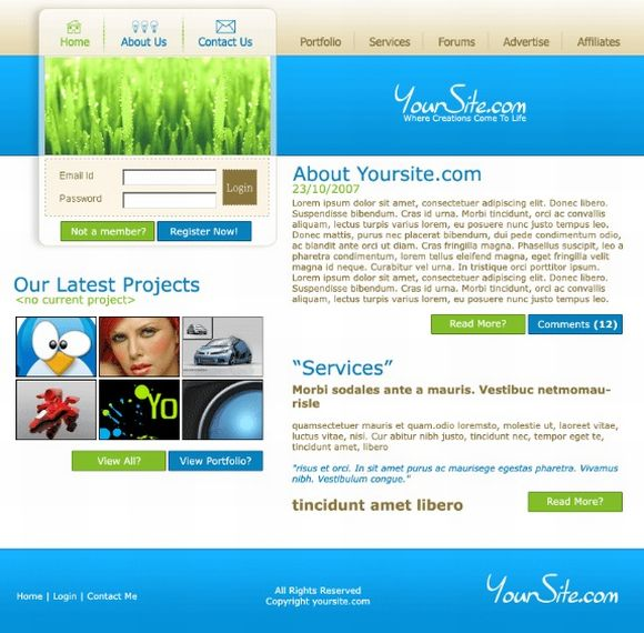 Design an Elegant and Simple Web Design Layout