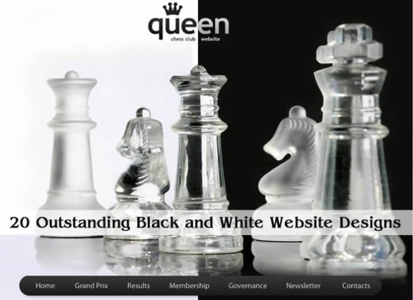 20 Outstanding Black and White Website Designs