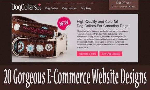 20 Gorgeous E-Commerce Websites Designs