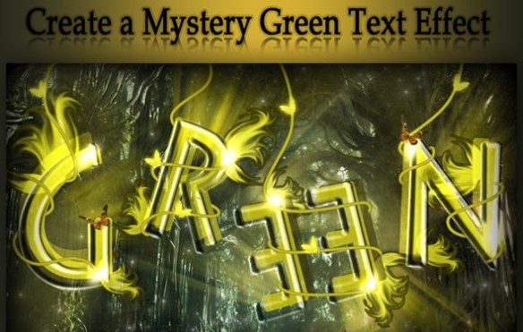 Create a Mystery Green Text Effect in Photoshop