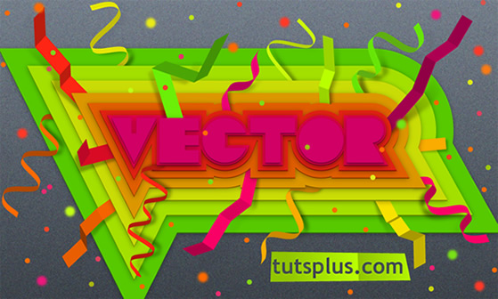 Create Colorful, Layered Paper Type in Illustrator