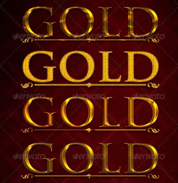Elegant Gold & Silver Text Styles