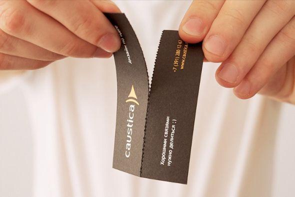 Caustica's Business card