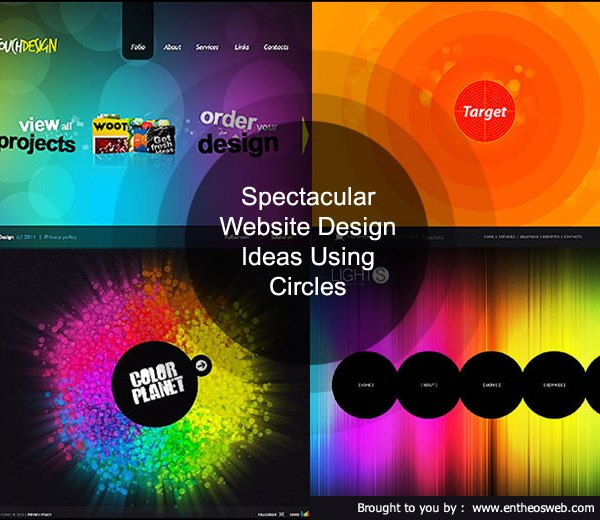 Spectacular Website Design Ideas Using Circles