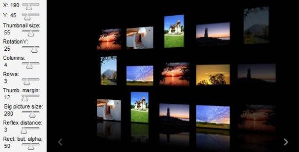 Infinite 3D Gallery - XML driven
