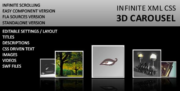 Infinite 3D Image and Media Carousel