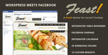 Feast - Facebook Fanpage & WordPress theme