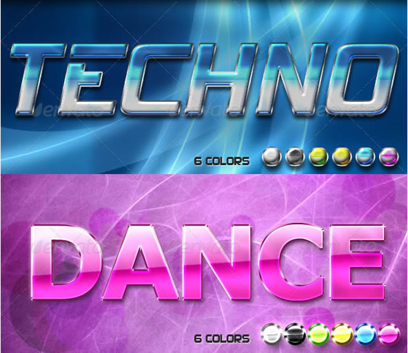 Techno & Dance Text Effects
