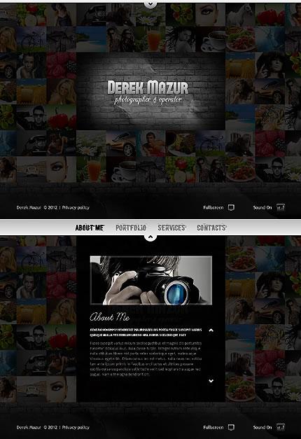 Derek Mazur Flash Website