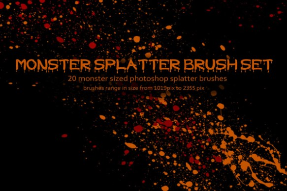 Monster Splatter Brush Set