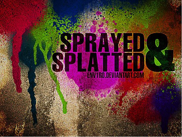 Got Sprayed Photoshop Brushes