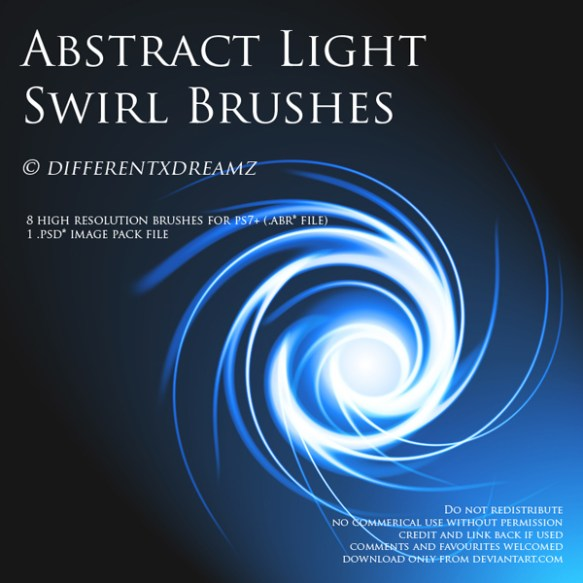 Abstract Light Swirl Brushes