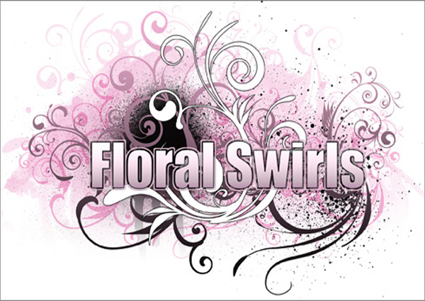 Classic Floral Swirl Brushes