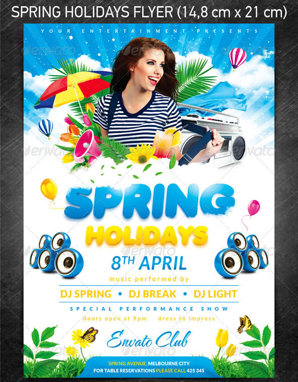 Spring Holidays/Easter Celebration Party Flyer