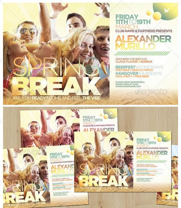 Spring Break / Summer Flyer Template