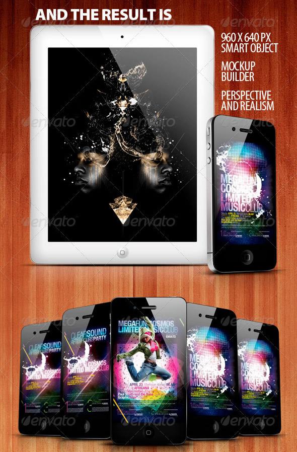 Mobile Phone & Mobile Pad Mock-ups