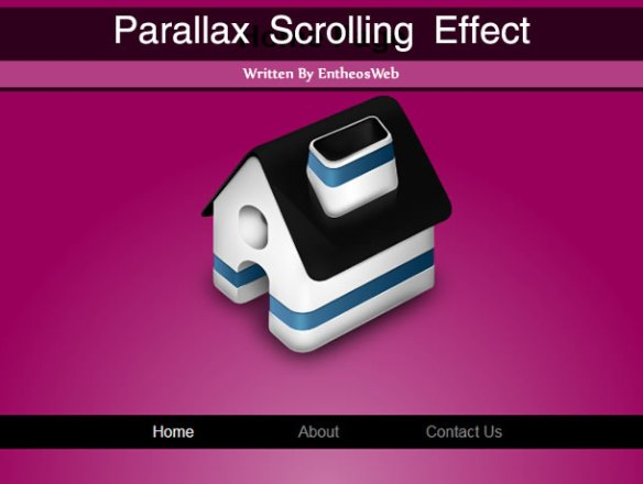 Parallax Scrolling Effect With CSS & jQuery