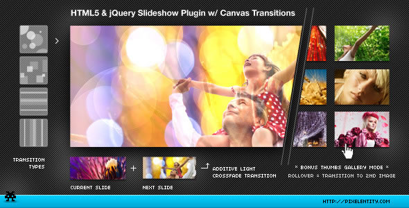 HTML5 Image Transitions Jquery Plugin