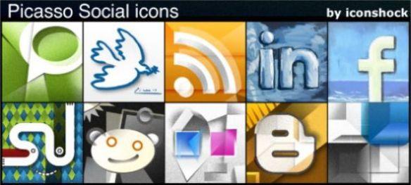 Picasso: A Free Social Media Icon Set