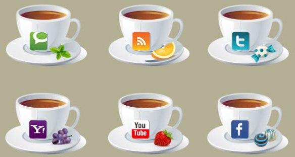 Brand New Social Icons - Teacups