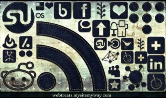 Dark Denim Social Media Icons