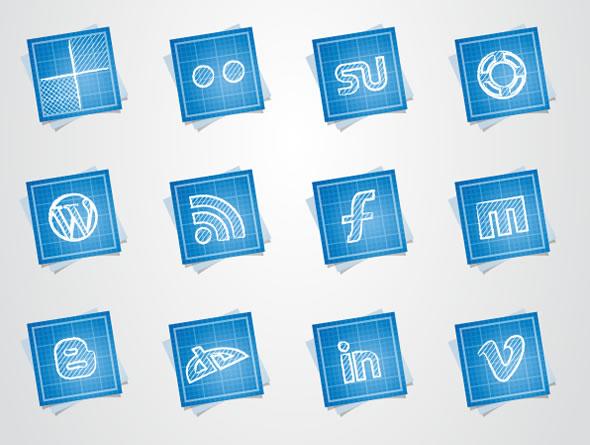 Blueprint Social Media Icons