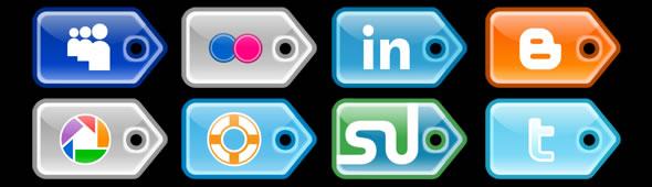 Social-Media Iconset – PriceTag Style