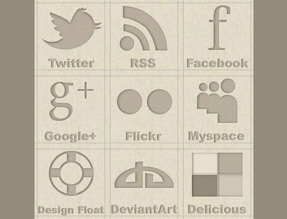 Brown social icons