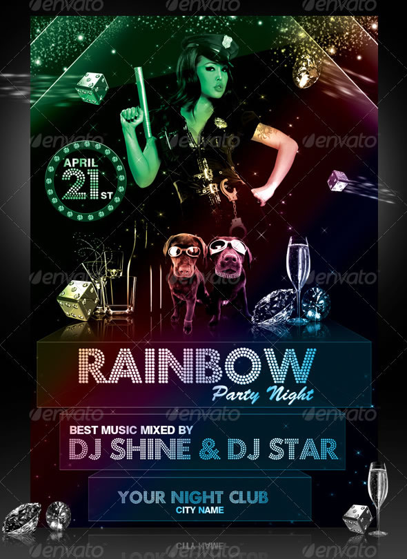 Rainbow Party Event Flyer