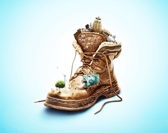 Create an Eye-Catching Eco-Friendly Shoe Advertisement