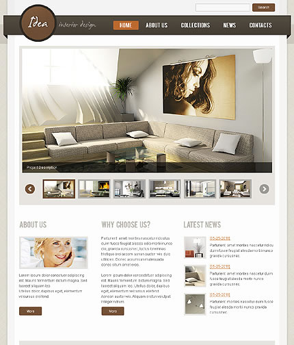 Idea Interior WordPress Theme