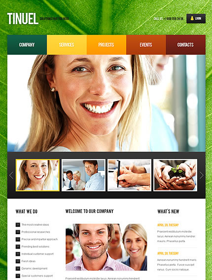 Tinuel Business WordPress Theme