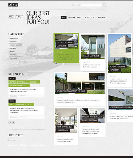 Architect Architecture WordPress Theme