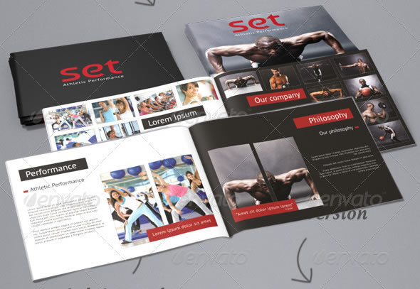 Clean, professional A5 brochure / catalogue
